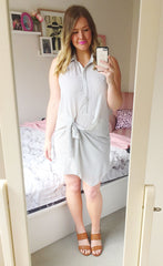Silence White Shirt Dress