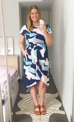 Soul Mate Navy Abstract Dress
