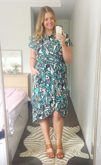 Soul Mate Green Abstract Dress