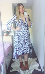 Stacey Animal Print Wrap Dress