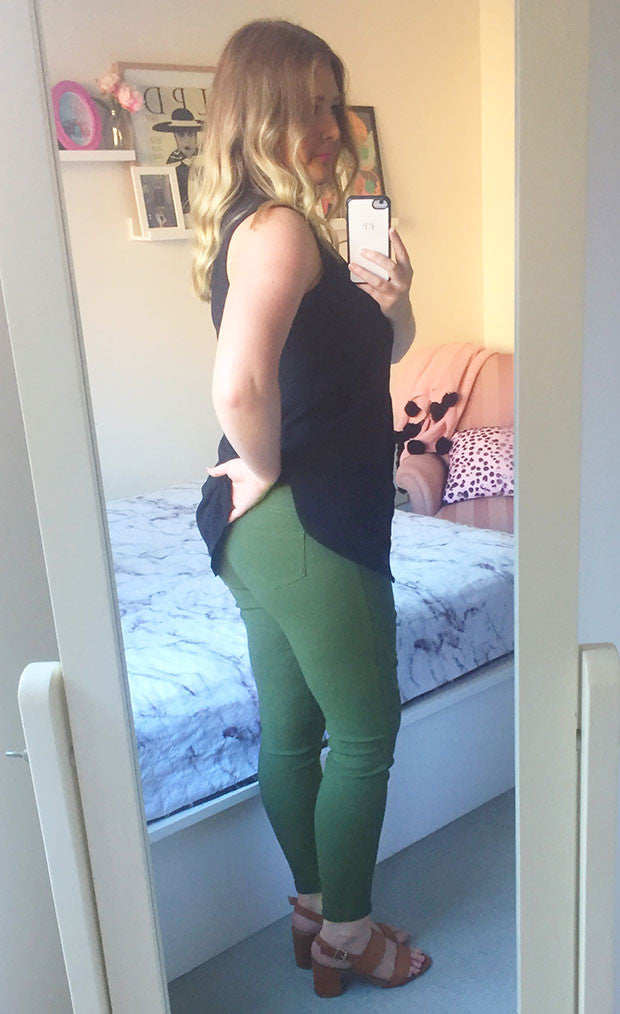 Strut Khaki Jeggings
