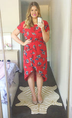 Sublime Red Floral Dress