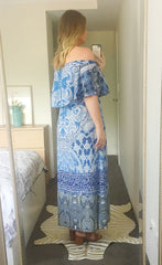 Sunset Blue Maxi Dress