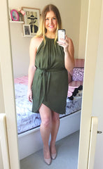 Sweetheart Khaki Dress