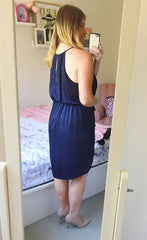Sweetheart Navy Dress