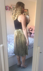 Tainted Love Gold Skirt