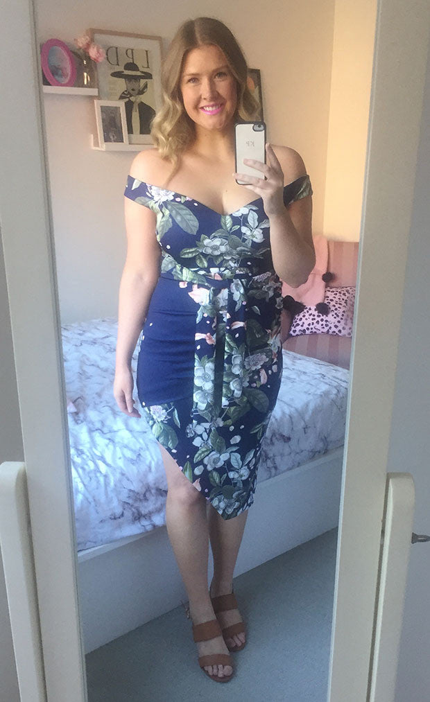 Taryn Navy Floral Dress