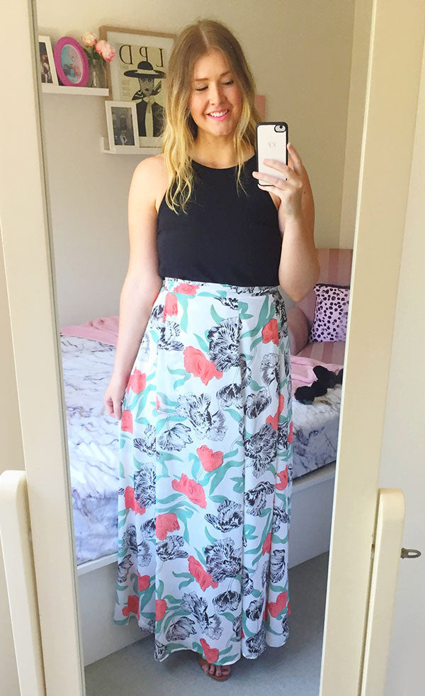 Traveller White Floral Wrap Skirt