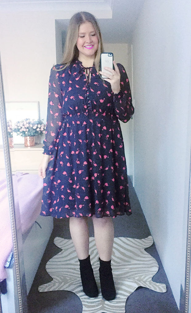 Trixie Flamingo Print Dress