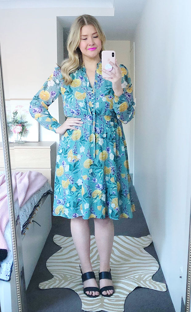 Trixie Green Floral Dress