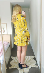 Verity Mustard Floral Dress