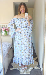 Whimsy Pale Blue Maxi Dress
