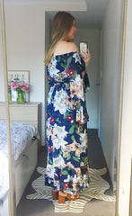 Whimsy Navy Floral Maxi Dress
