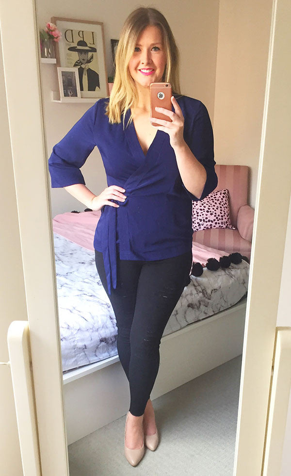 Wicked Navy Wrap Top