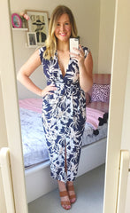 Work It Navy Floral Dress