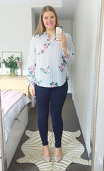 Ebony Stripe Floral Blouse