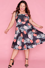 Hazel Tropical Floral Dress
