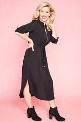 Miranda Black Shirt Dress