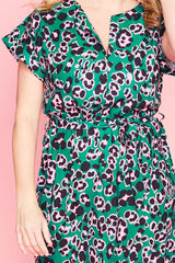 Arlo Green Leopard Dress