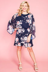 Eden Navy Floral Dress