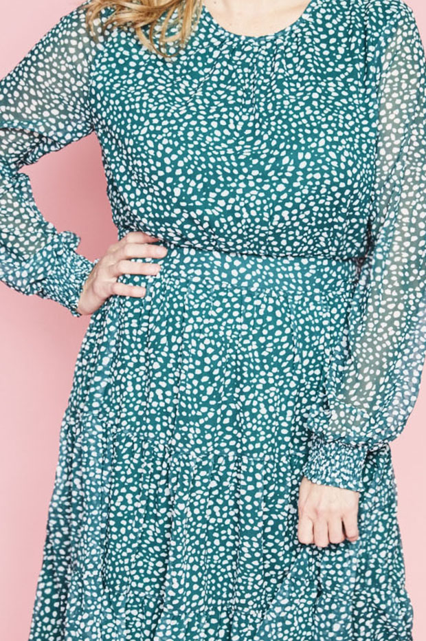 Lacey Green Spots Dress