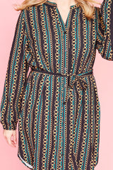 Carly Chain Print Shirt Dress