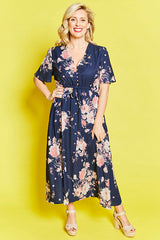 Marley Navy Floral Dress