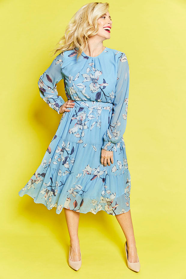 Lacey Blue Floral Dress