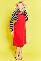 Hudson Red Pinafore Dress