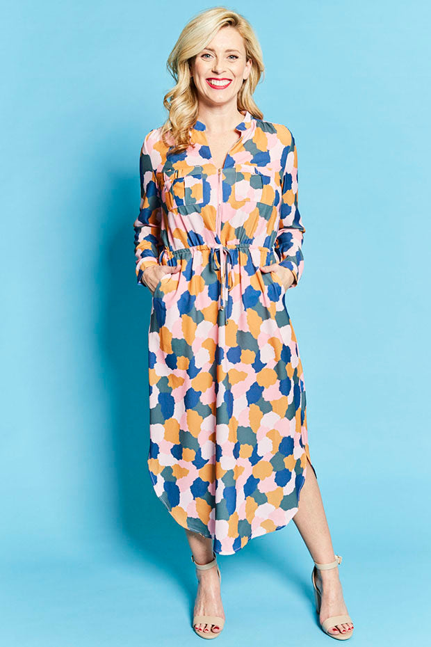 Miranda Abstract Shirt Dress