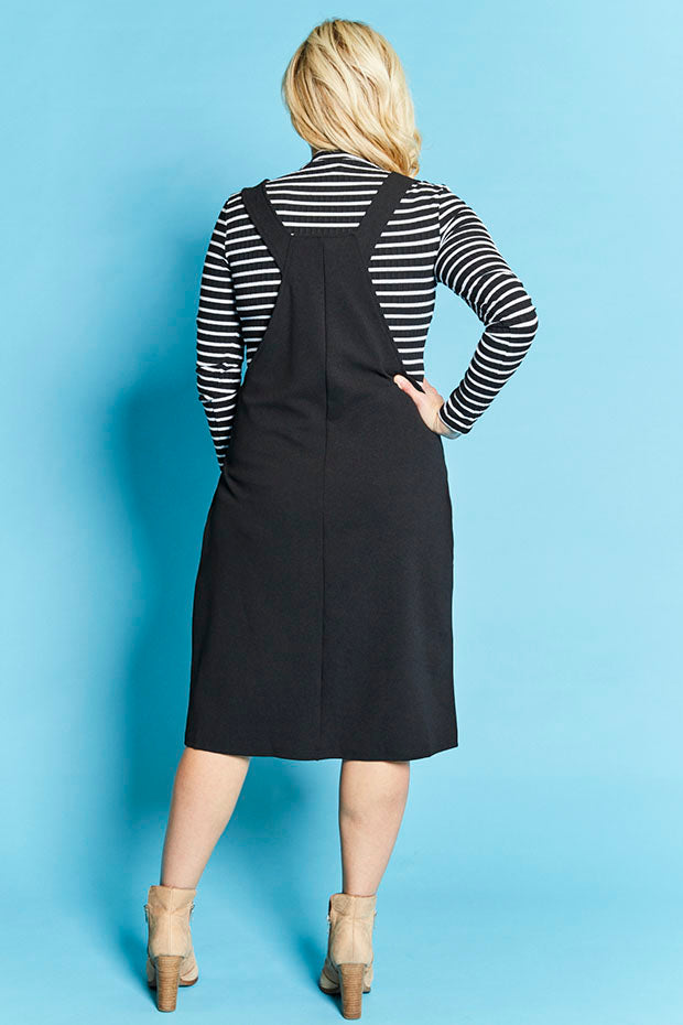 Hudson Black Pinafore Dress