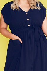 Georgie Navy Dress