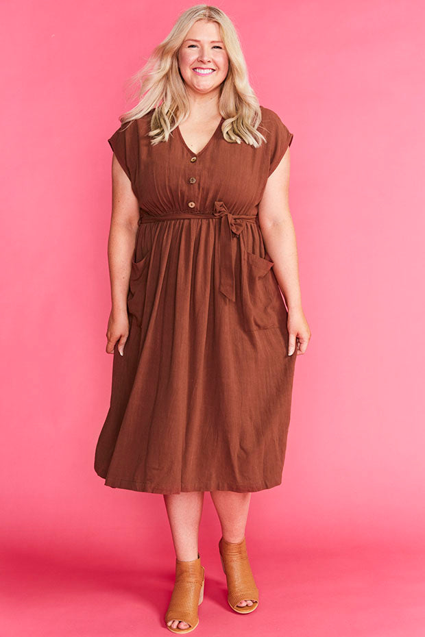 Georgie Chocolate Dress