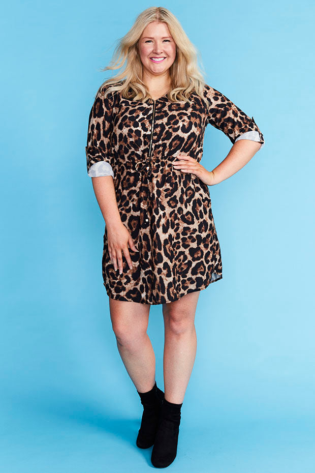 Chelsea Leopard Print Shirt Dress