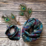 Fringe Bandana and Infinity Scarf Set - Aztec Diamond