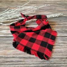 Load image into Gallery viewer, Buffalo Plaid - Fringe Bandana