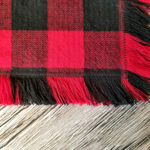 Buffalo Plaid - Fringe Bandana