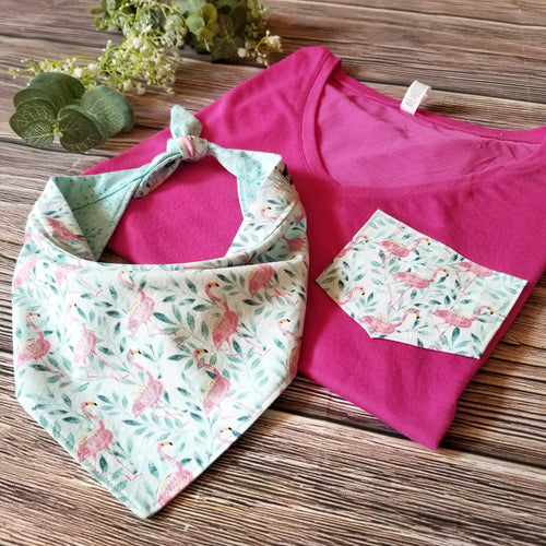 Boxy V-Neck & Bandana - Matching Sets