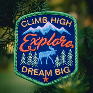 Climb High - Embroidered Patch