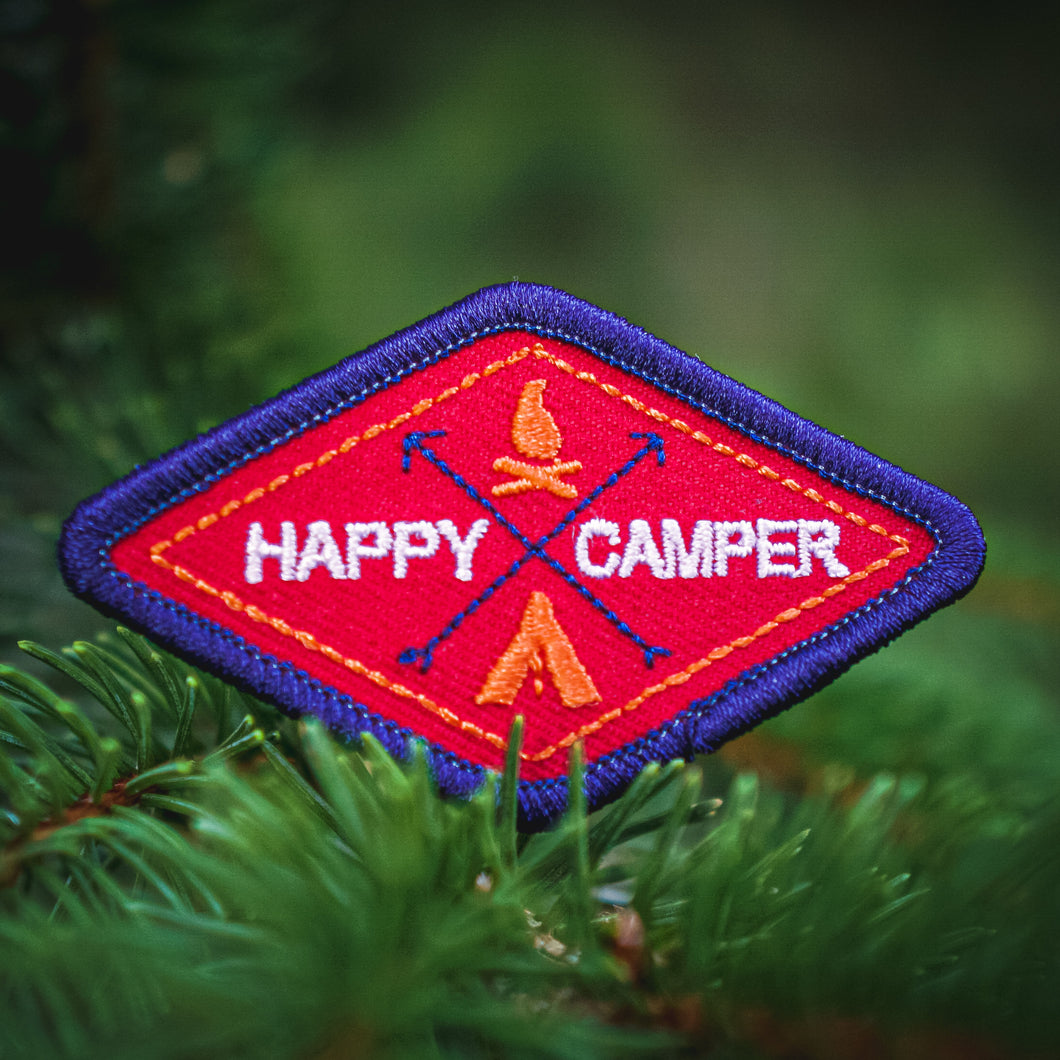 Happy Camper - Embroidered Patch