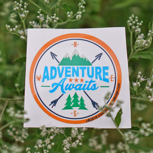 Adventure Awaits - Waterproof Vinyl Sticker