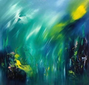 New Earth - Blue/green - Amazing Grace ( twin painting)