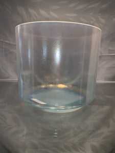 "7"" F# Tesseract Salt, palladium, and Aqua Aura Gold ( Base ) Bowl 69767"