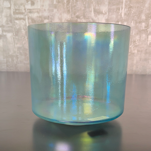 "8"" E+5 Tesseract Salt, Aqua Aura Gold Bowl 87190"