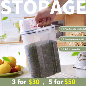 Kitchen storage box, household storage cans, transparent multi-function sealed box,3 for 30,5 for 55!