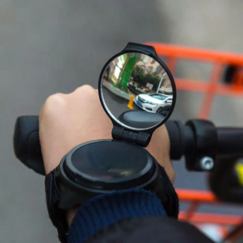Bicycle Rearview Mirror Wristband Arm 360 Degrees Rotation
