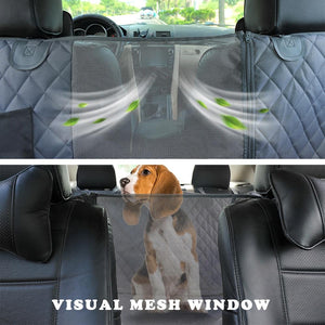 Dog Car Seat Cover View Mesh Waterproof Pet Carrier Car