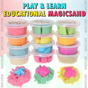 🔥BEST SALES-BUY 20 FREE 16 -BUY 24 FREE 24 🎅PLAY & LEARN EDUCATIONAL MAGIC SAND