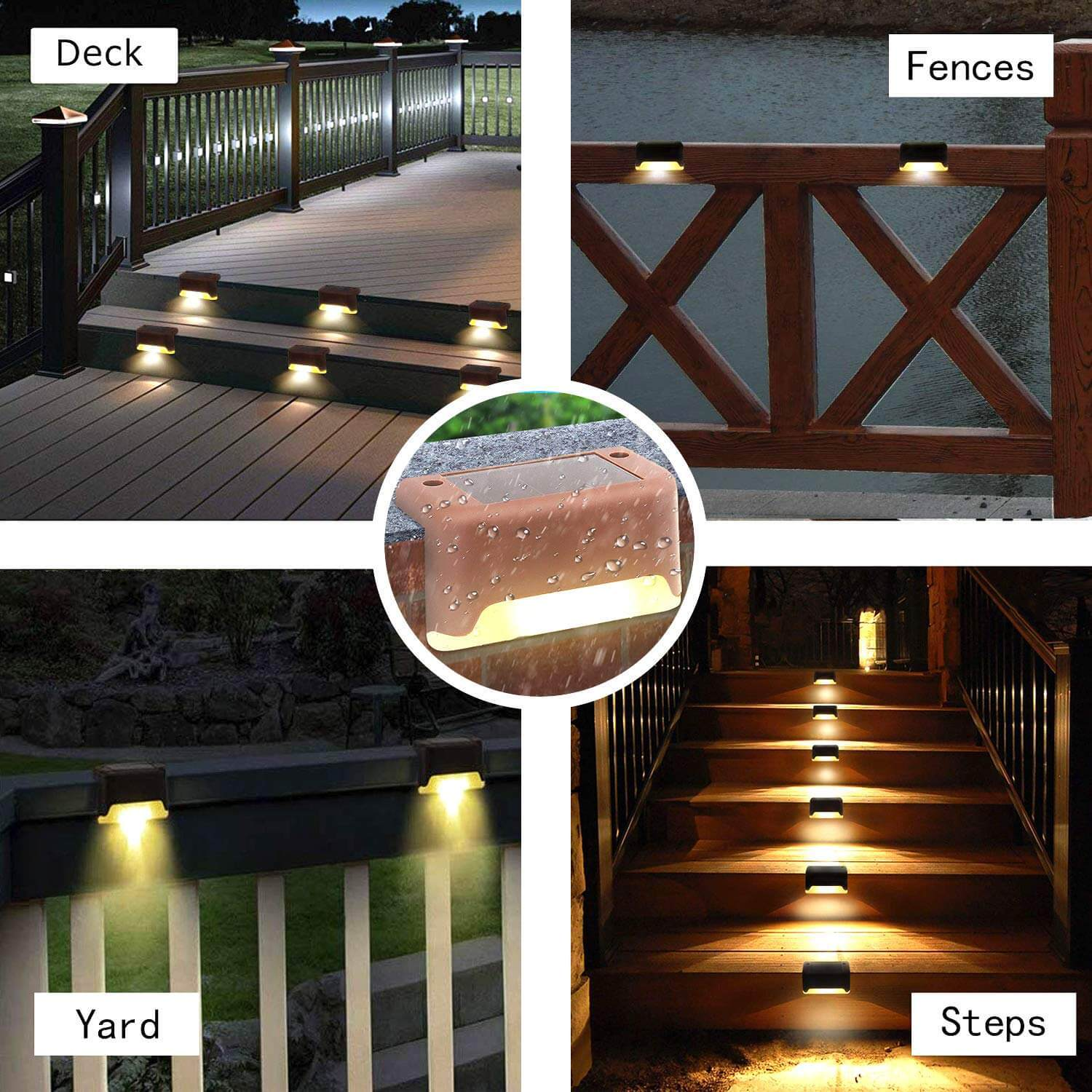 Outdoor Solar Deck Lights(Buy More Save More)