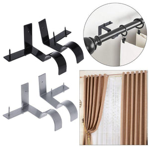 Double Center Support Curtain Rod Bracket(2 PCS)